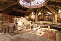 Inside the Basilica of the Annunciation