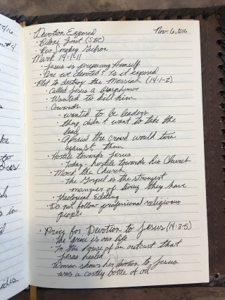Notes From A Sermon